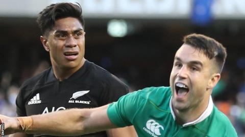Ireland claimed their first ever win over New Zealand at Soldier Field in Chicago