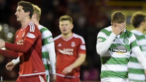 Celtic look disconsolate against Aberdeen