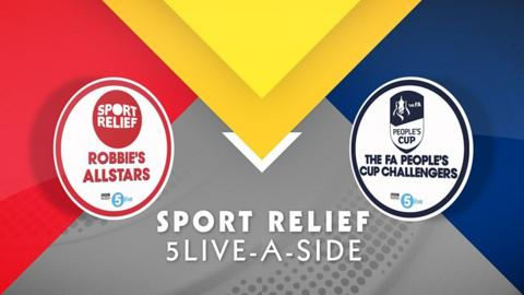Sport Relief: Robbie Savage 5-live-a-sid