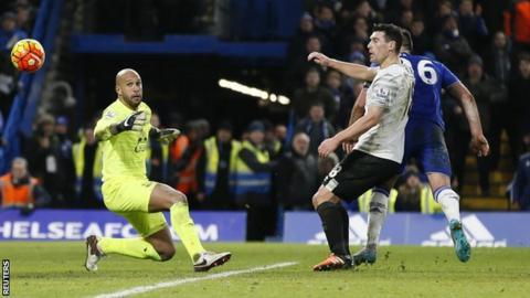 John Terry slots Chelsea's last-gasp leveller past Tim Howard
