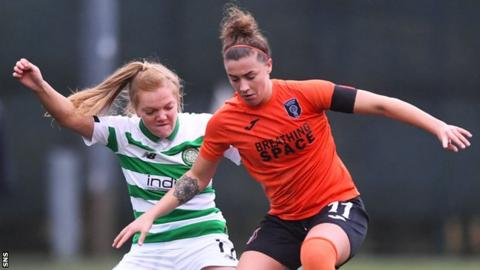 Nicola Docherty (right) in action for Glasgow City
