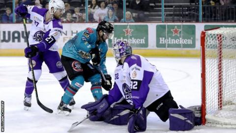 David Goodwin levels for Belfast after Glasgow Clan took an early lead at the SSE Arena