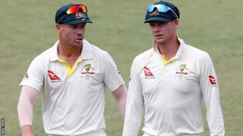 David Warner and Australia captain Steve Smith