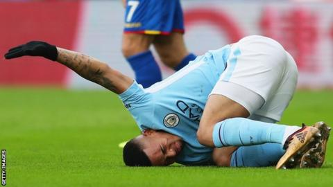 Manchester City says Gabriel Jesus sustained medial ligament damage