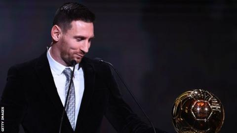 Lionel Messi wins his sixth Ballon d'Or.