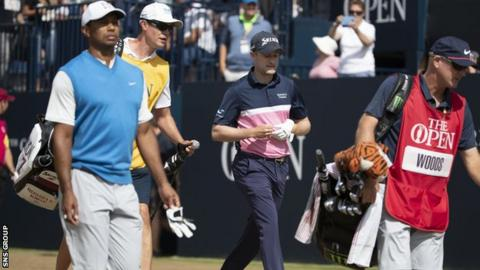Russell Knox played in the same group as Tiger Woods on Thursday and Friday at Carnoustie