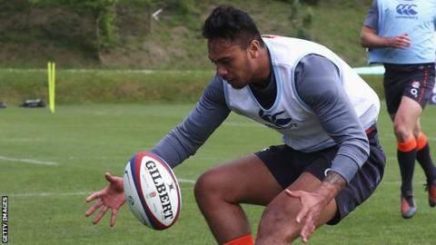 d742d88867b Denny Solomona was born in New Zealand and represented Samoa in rugby  league in 2016. Sale Sharks ...