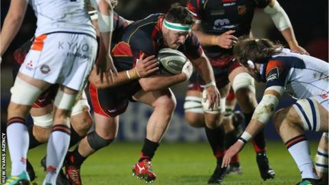 Ryan Bevington powers forward against Edinburgh