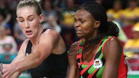 Silver Ferns go down to Malawi