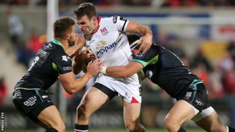 Ulster v Ospreys action