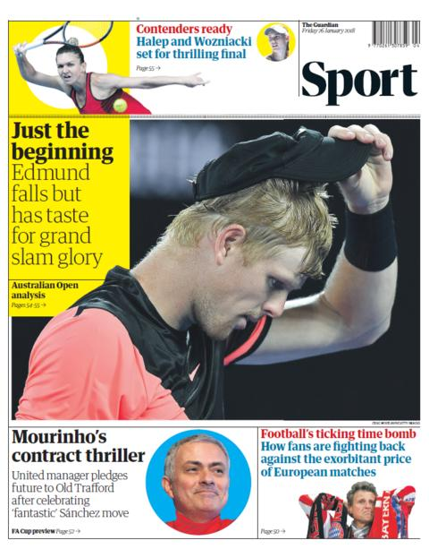 Guardian sport section on Fruday