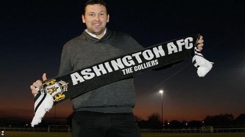 Ashington AFC manager Steve Harmison
