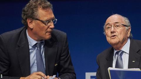 Jerome Valcke and Sepp Blatter