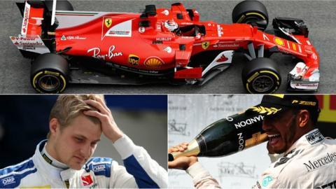 Ferrari, Marcus Ericsson and Lewis Hamilton