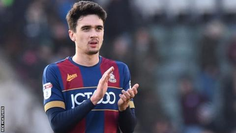 Alex Gilliead in action for Bradford City