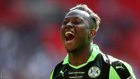 Drissa Traore played 81 minutes of Forest Green Rovers' National League play-off final win against Tranmere Rovers in May 2017