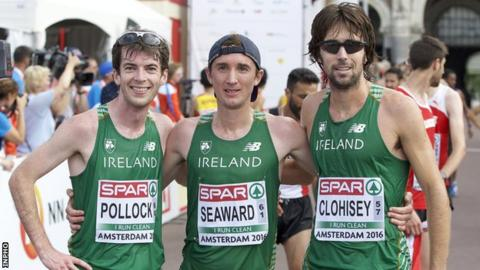 Paul Pollock, Kevin Seaward and Mick Clohisey also competed at the 2016 European Championships