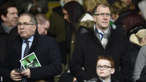 Scottish FA president Alan McRae and chief executive Stewart Regan