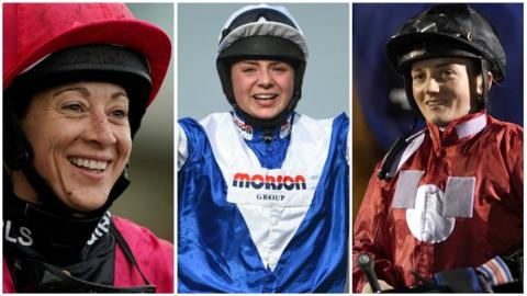 Hayley Turner. Bryony Frost and Hollie Doyle