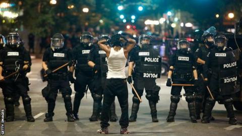 Riots in Charlotte, North Carolina