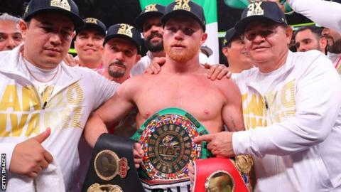 Alvarez previously held the IBF, WBA and WBC belts at middleweight