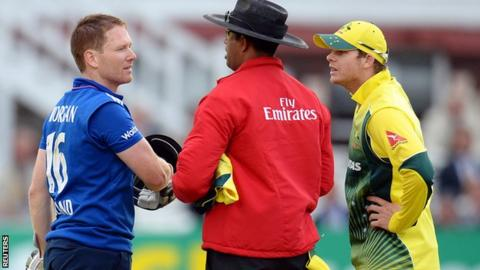 Eoin Morgan and Steven Smith discuss the controversy