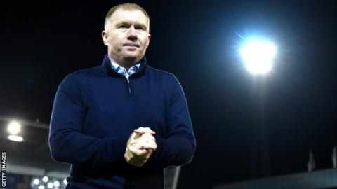 Oldham Athletic manager Paul Scholes