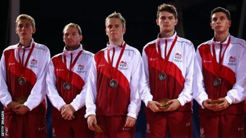 England men's table tennis