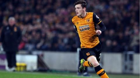 Andy Robertson playing for Hull City