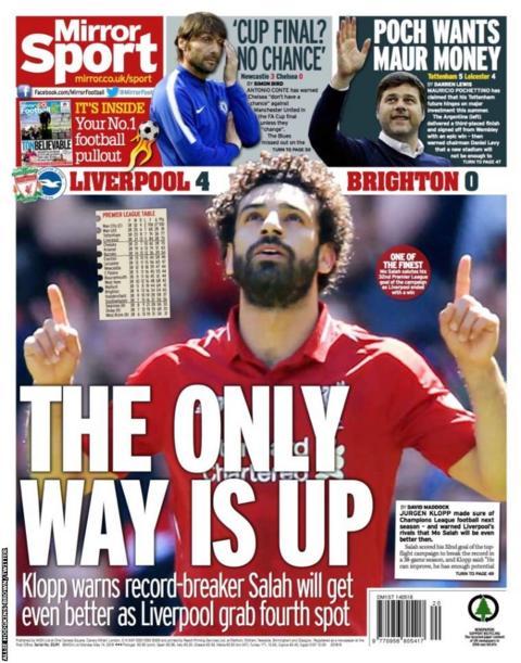 Monday's Daily Mirror