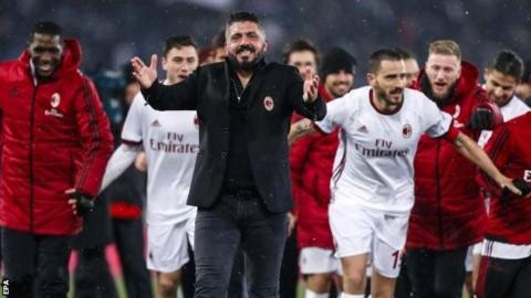06058a0171f Rino Gattuso led AC Milan to the Coppa Italia final last week with a  penalty shootout win over Lazio