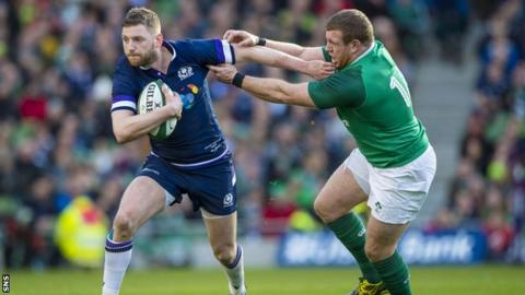 Finn Russell in action against Ireland