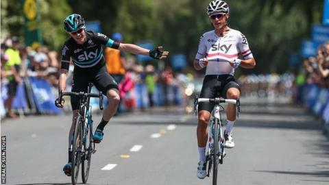 Kennaugh leads Froome at the top of the general classification by seven seconds