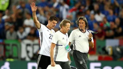 Mario Gomez is substituted