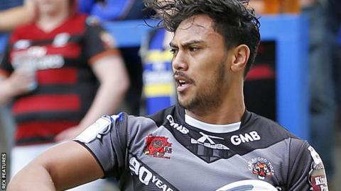 Denny Solomona in action for Castleford