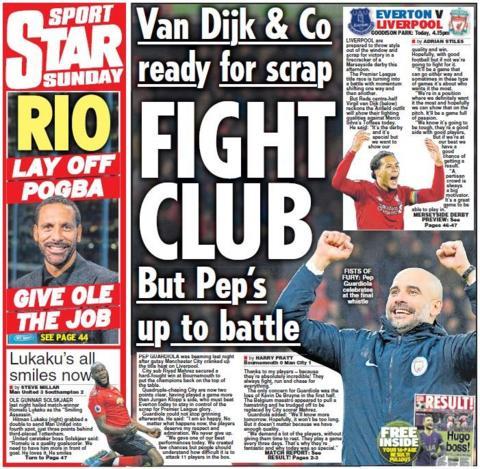 Sunday Star back page