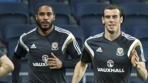 Ashley Williams and Gareth Bale