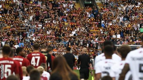 Sell-out crowd of nearly 25,000 at Valley Parade