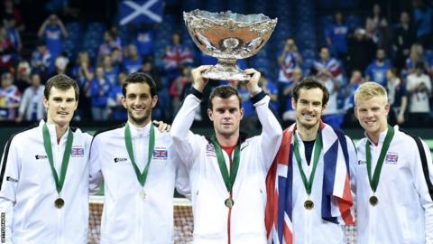 Great Britain's Davis Cup winning team
