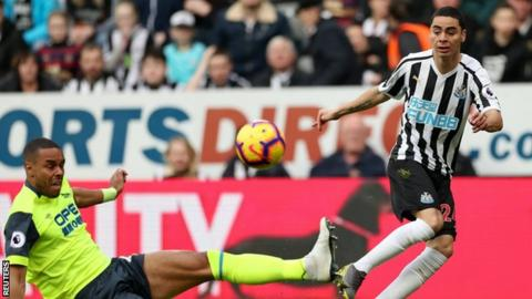 Miguel Almiron impressed on his first Newcastle start