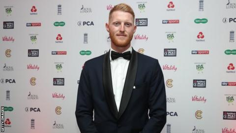 England all-rounder Ben Stokes at the Professional Cricketers' Association Awards