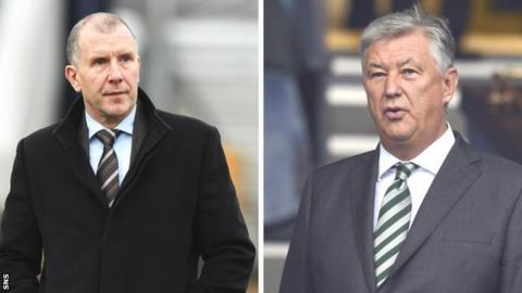 SFA chief executive and Celtic counterpart Peter Lawwell