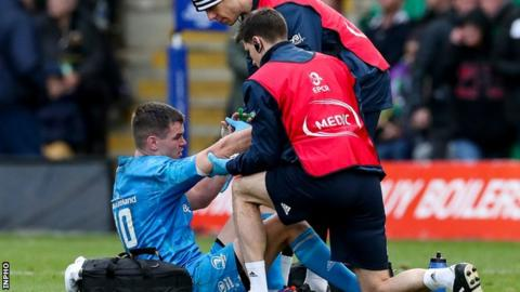 Sexton ruled out for Leinster but extent of injury uknown class=
