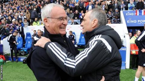 Claudio Ranieri and Francesco Guidolin