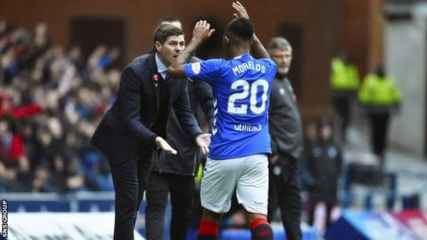 Morelos has scored 20 goals in 34 appearances for Rangers this season