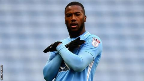 Duckens Nazon celebrates with Coventry City