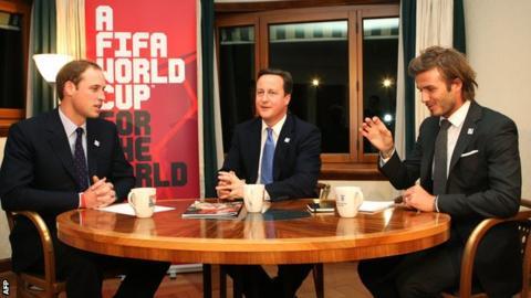 Prince William and David Beckham were involved in England's bid