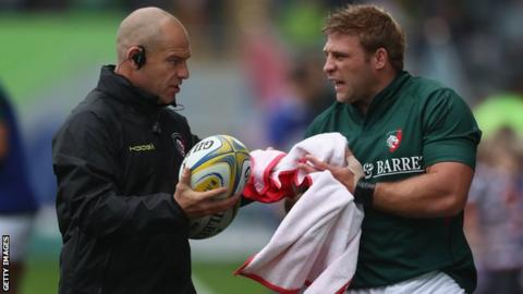 Richard Cockerill (left) with Tom Youngs
