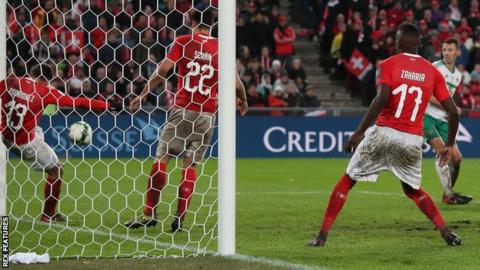 ed9115ae5cb51 World Cup play-off: Switzerland 0-0 Northern Ireland (agg: 1-0 ...