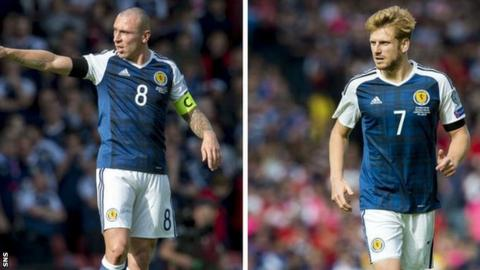 Scott Brown (left) and Stuart Armstrong